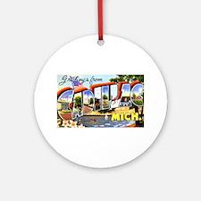 Cadillac Michigan Greetings Ornament (Round)