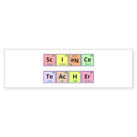 Science Teacher Sticker (Bumper)