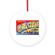 Jacksonville Florida Greetings Ornament (Round)