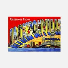 Jacksonville Florida Greetings Rectangle Magnet
