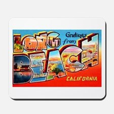 Long Beach California Greetings Mousepad