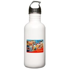 Long Beach California Greetings Sports Water Bottle