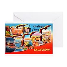 Long Beach California Greetings Greeting Card