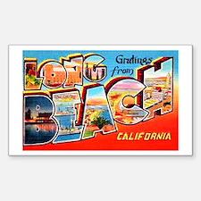 Long Beach California Greetings Decal