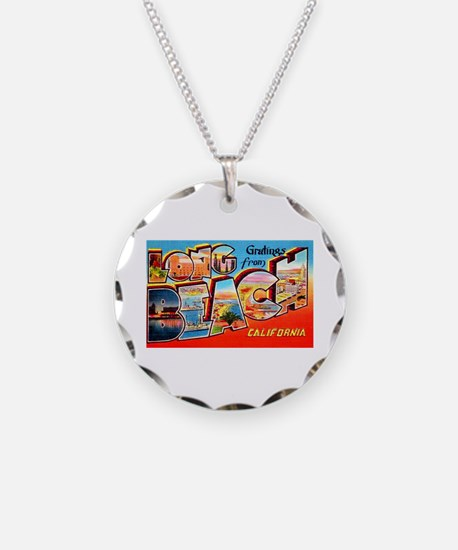 Long Beach California Greetings Necklace