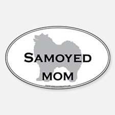 Samoyed MOM Oval Decal
