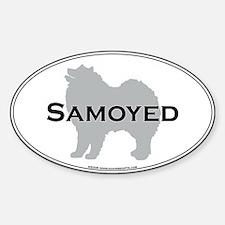 Samoyed Oval Decal