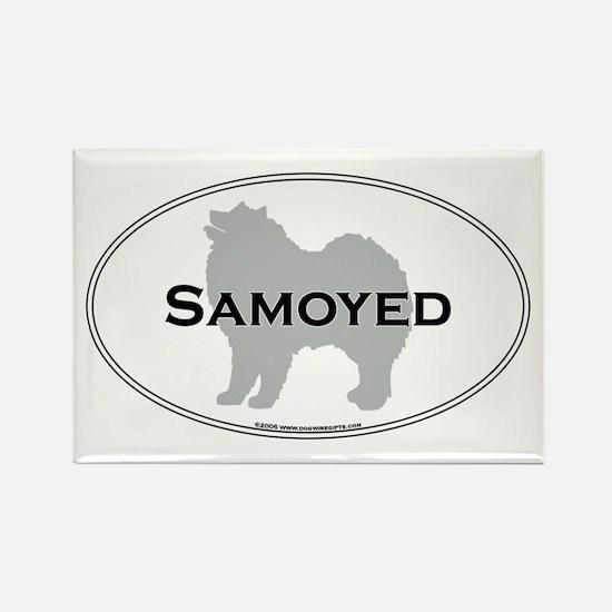Samoyed Rectangle Magnet