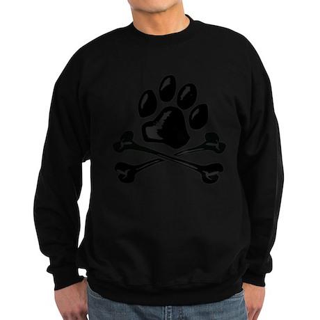 paw and crossbones Sweatshirt (dark)