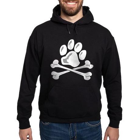 paw and crossbones Hoodie (dark)