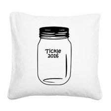 Tickle 2016 Jar Square Canvas Pillow