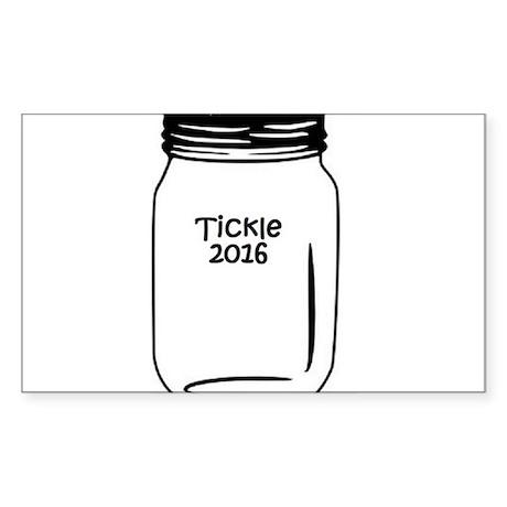 Tickle 2016 Jar Sticker (Rectangle)