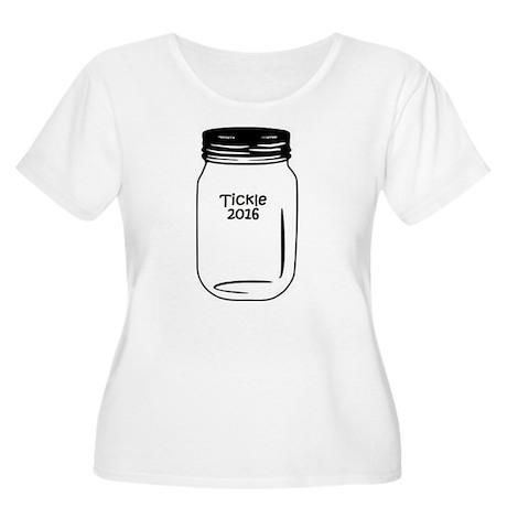 Tickle 2016 Jar Women's Plus Size Scoop Neck T-Shi