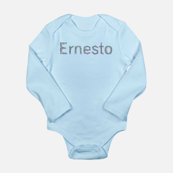 Ernesto Paper Clips Long Sleeve Infant Bodysuit