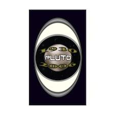 Pluto Commemorative Rectangle Decal