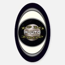 Pluto Commemorative Oval Decal