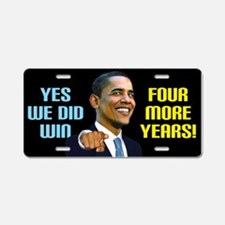 Yes We Did! Aluminum License Plate