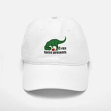 T-rex hates presents Baseball Baseball Cap