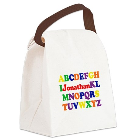 alphabet_Jonathan.png Canvas Lunch Bag