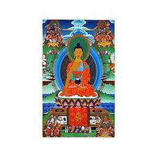 Colorful Buddha Thangka 3'x5' Area Rug