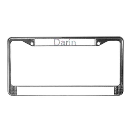 Darin Paper Clips License Plate Frame
