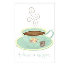Cuppa Tea Postcards (Package of 8)