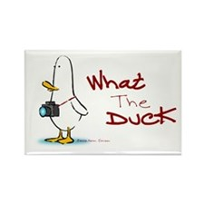 What the Duck Rectangle Magnet