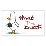 What the Duck Rectangle Sticker