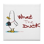 What the Duck Tile Coaster