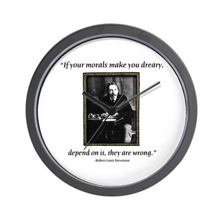 Robert Louis Stevenson Wall Clock