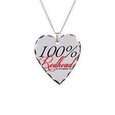 Natural Redhead Necklace Heart Charm