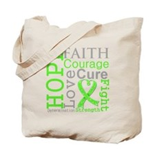 Lymphoma Hope Courage Tote Bag