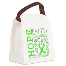 Lymphoma Hope Courage Canvas Lunch Bag