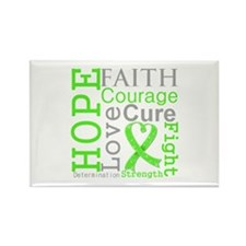 Lymphoma Hope Courage Rectangle Magnet