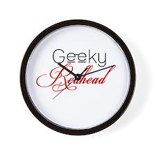 Geeky Redheads Wall Clock