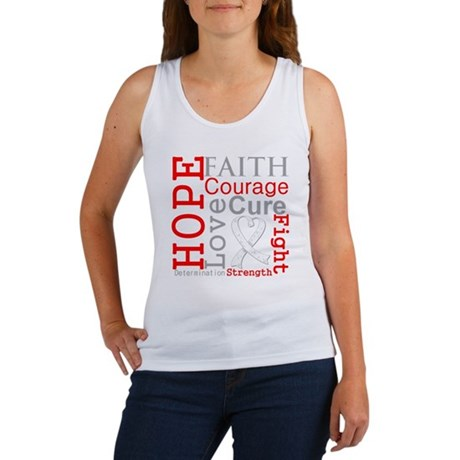 Lung Cancer Hope Courage Women's Tank Top