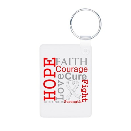 Lung Cancer Hope Courage Aluminum Photo Keychain
