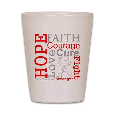 Lung Cancer Hope Courage Shot Glass