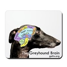 The Greyhound Brain Mousepad