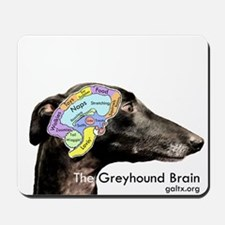 The Greyhound Brain Mousepad