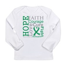 Liver Cancer Hope Courage Long Sleeve Infant T-Shi