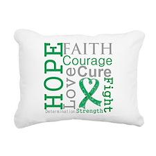 Liver Cancer Hope Courage Rectangular Canvas Pillo