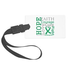 Liver Cancer Hope Courage Luggage Tag