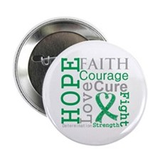 """Liver Cancer Hope Courage 2.25"""" Button"""