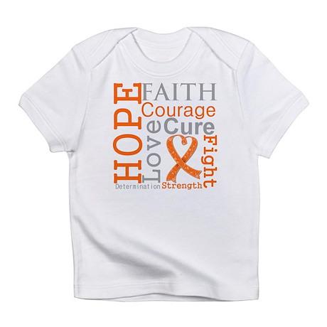 Leukemia Hope Courage Infant T-Shirt