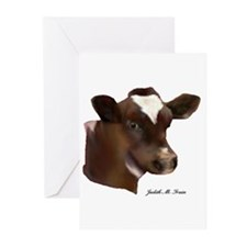 Holstein heifer calf Greeting Cards (Pk of 20)