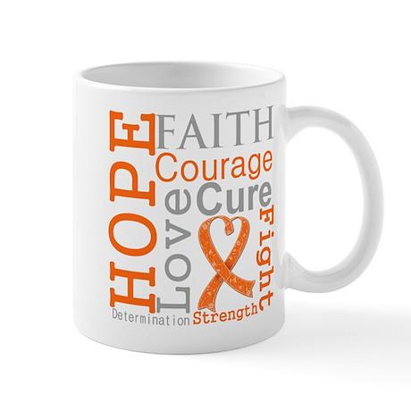 Kidney Cancer Hope Courage Mug
