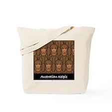 Red Australian Kelpies Tote Bag
