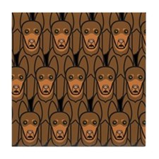 Red Australian Kelpies Tile Coaster