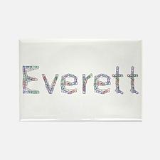 Everett Paper Clips Rectangle Magnet